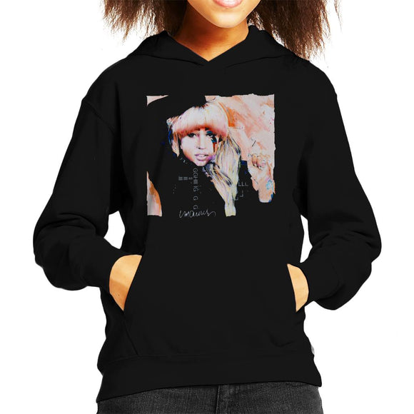 Sidney Maurer Original Portrait Of Singer Lady Gaga Kid's Hooded Sweatshirt