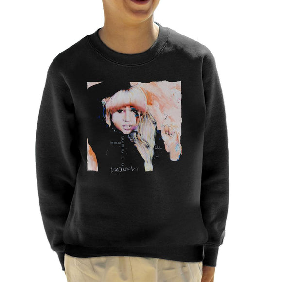 Sidney Maurer Original Portrait Of Singer Lady Gaga Kid's Sweatshirt