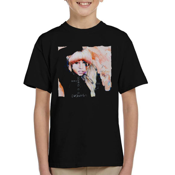 Sidney Maurer Original Portrait Of Singer Lady Gaga Kid's T-Shirt