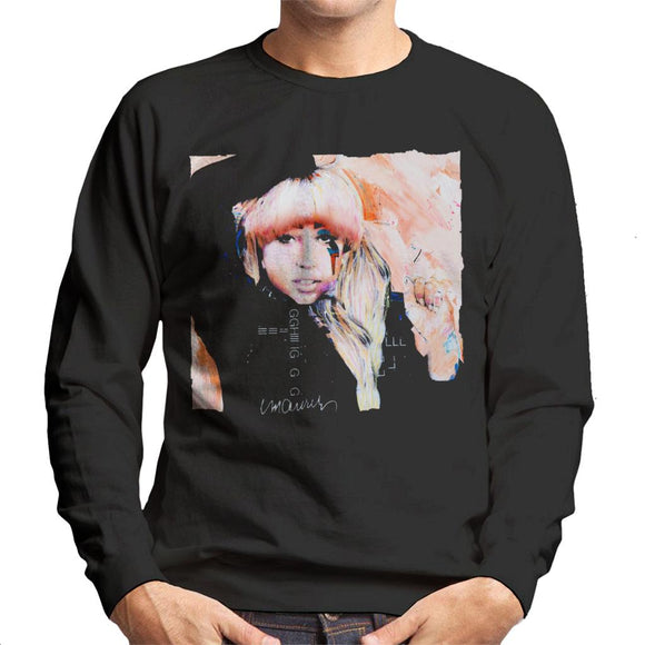 Sidney Maurer Original Portrait Of Singer Lady Gaga Men's Sweatshirt