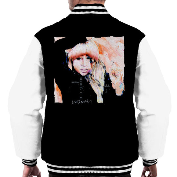 Sidney Maurer Original Portrait Of Singer Lady Gaga Men's Varsity Jacket