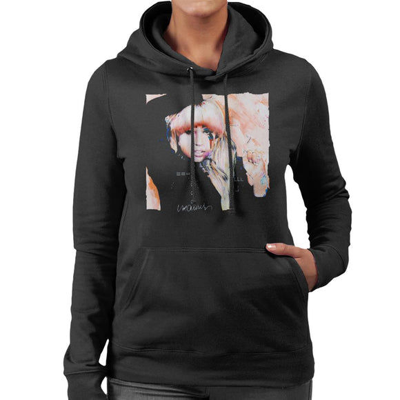 Sidney Maurer Original Portrait Of Singer Lady Gaga Women's Hooded Sweatshirt