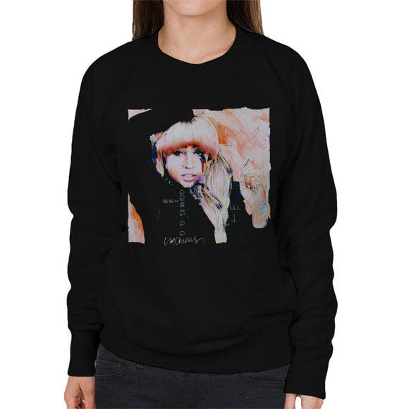 Sidney Maurer Original Portrait Of Singer Lady Gaga Women's Sweatshirt