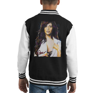 Sidney Maurer Original Portrait Of Reality Star Kim Kardashian Kid's Varsity Jacket