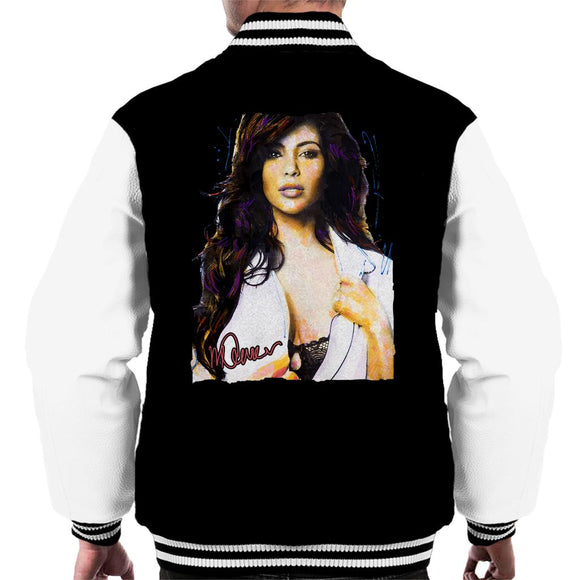 Sidney Maurer Original Portrait Of Reality Star Kim Kardashian Men's Varsity Jacket