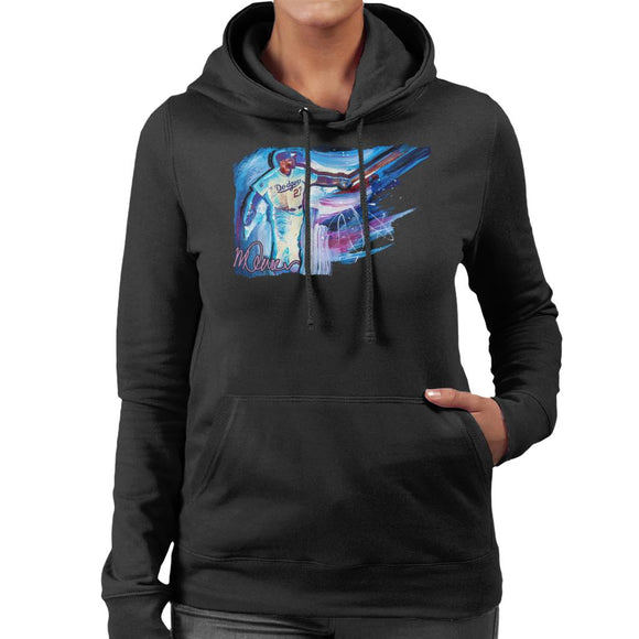 Sidney Maurer Original Portrait Of Dodgers Star Matt Kemp Women's Hooded Sweatshirt