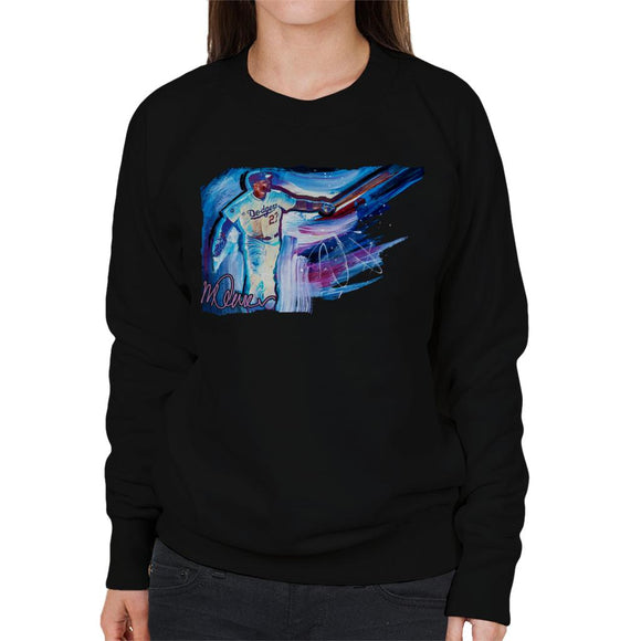 Sidney Maurer Original Portrait Of Dodgers Star Matt Kemp Women's Sweatshirt