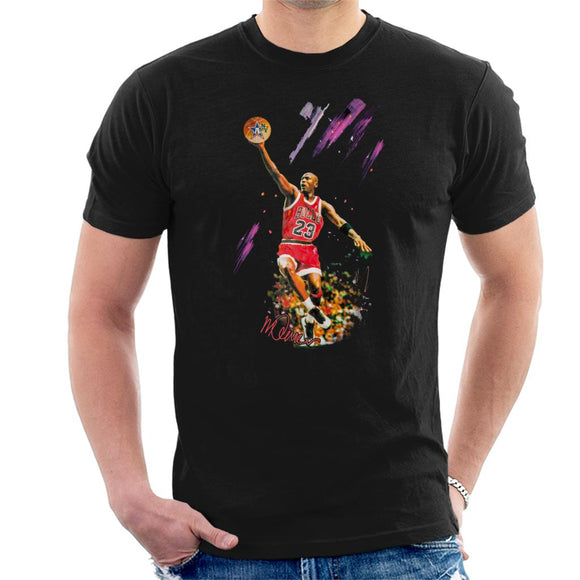 Sidney Maurer Original Portrait Of Bulls Star Michael Jordan Men's T-Shirt