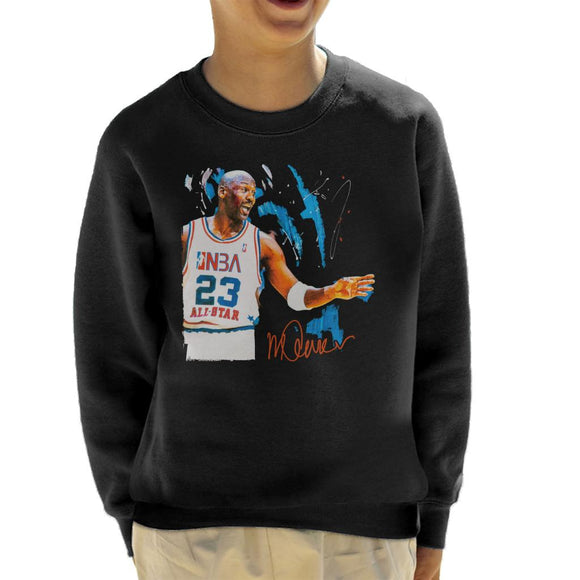 Sidney Maurer Original Portrait Of NBA All Star Michael Jordan Kid's Sweatshirt