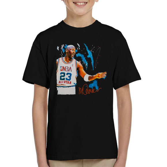 Sidney Maurer Original Portrait Of NBA All Star Michael Jordan Kid's T-Shirt