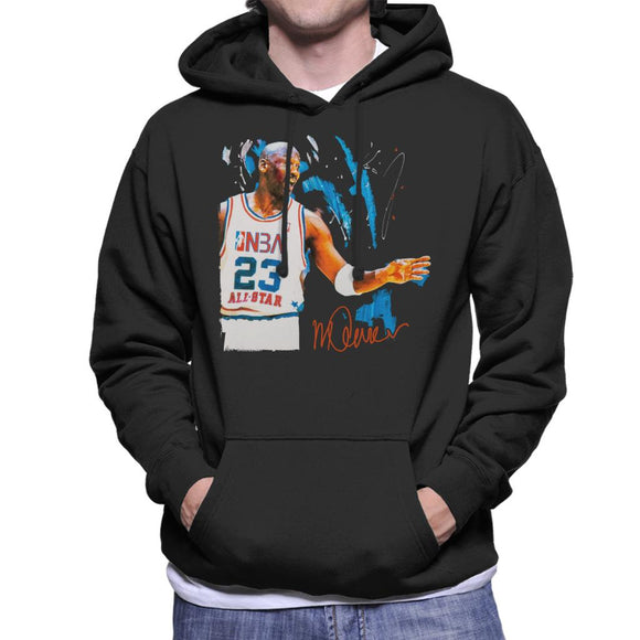 Sidney Maurer Original Portrait Of NBA All Star Michael Jordan Men's Hooded Sweatshirt