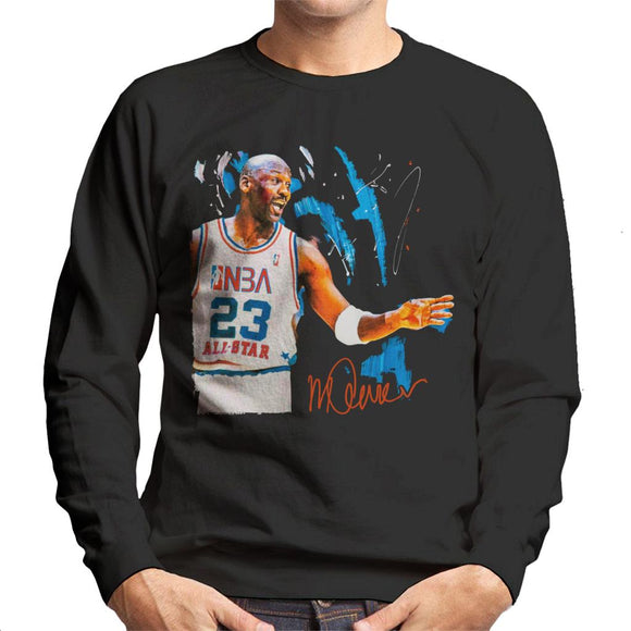 Sidney Maurer Original Portrait Of NBA All Star Michael Jordan Men's Sweatshirt