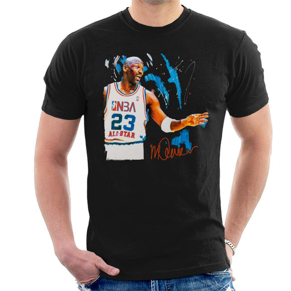 Sidney Maurer Original Portrait Of NBA All Star Michael Jordan Men's T-Shirt