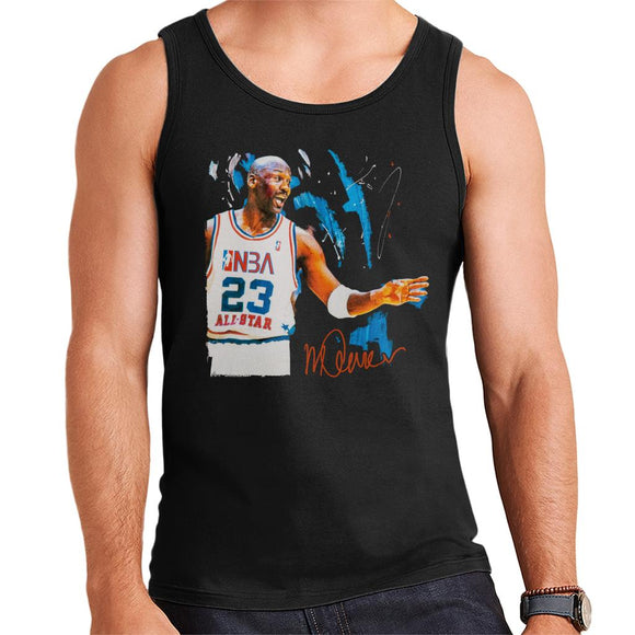 Sidney Maurer Original Portrait Of NBA All Star Michael Jordan Men's Vest