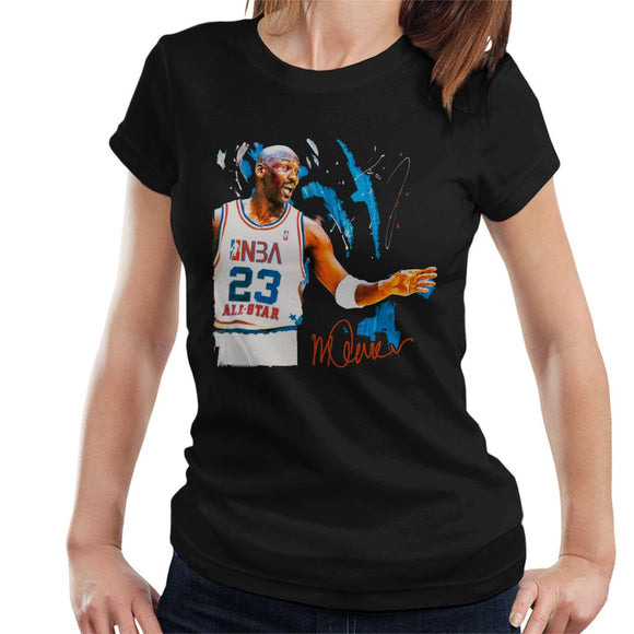 Sidney Maurer Original Portrait Of NBA All Star Michael Jordan Women's T-Shirt