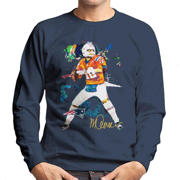 Sidney Maurer Original Portrait Of Patriots Star Tom Brady Men's Sweatshirt