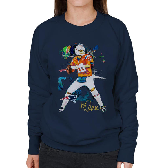 Sidney Maurer Original Portrait Of Patriots Star Tom Brady Women's Sweatshirt