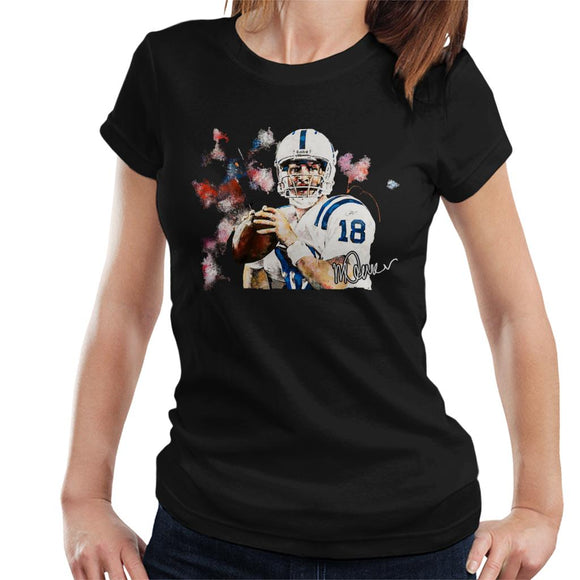 Sidney Maurer Original Portrait Of Star Quarterback Peyton Manning Women's T-Shirt