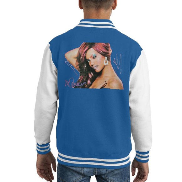 Sidney Maurer Original Portrait Of Rihanna Drop Earrings Kid's Varsity Jacket