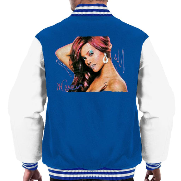 Sidney Maurer Original Portrait Of Rihanna Drop Earrings Men's Varsity Jacket