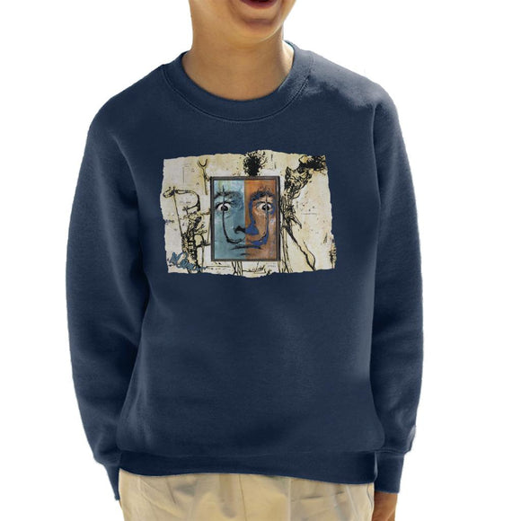 Sidney Maurer Original Portrait Of Surrealist Salvador Dali Kid's Sweatshirt