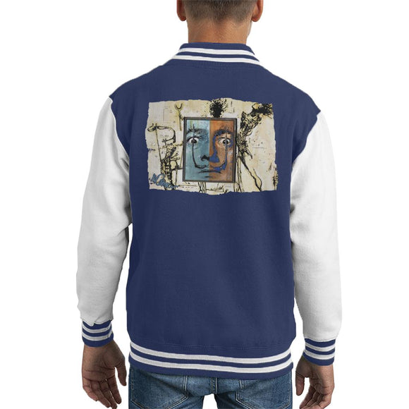 Sidney Maurer Original Portrait Of Surrealist Salvador Dali Kid's Varsity Jacket