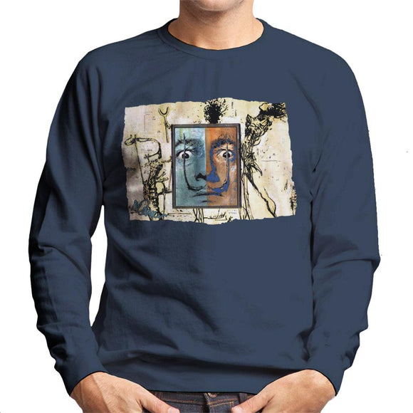 Sidney Maurer Original Portrait Of Surrealist Salvador Dali Men's Sweatshirt