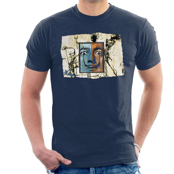 Sidney Maurer Original Portrait Of Surrealist Salvador Dali Men's T-Shirt