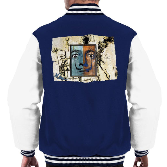 Sidney Maurer Original Portrait Of Surrealist Salvador Dali Men's Varsity Jacket