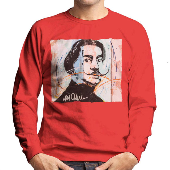 Sidney Maurer Original Portrait Of Spanish Artist Salvador Dali Men's Sweatshirt