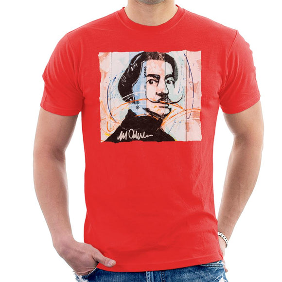 Sidney Maurer Original Portrait Of Spanish Artist Salvador Dali Men's T-Shirt