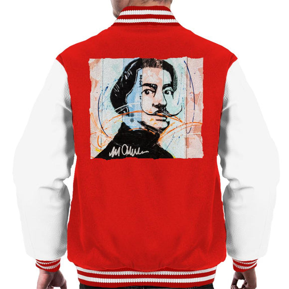 Sidney Maurer Original Portrait Of Spanish Artist Salvador Dali Men's Varsity Jacket