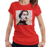 Sidney Maurer Original Portrait Of Spanish Artist Salvador Dali Women's T-Shirt