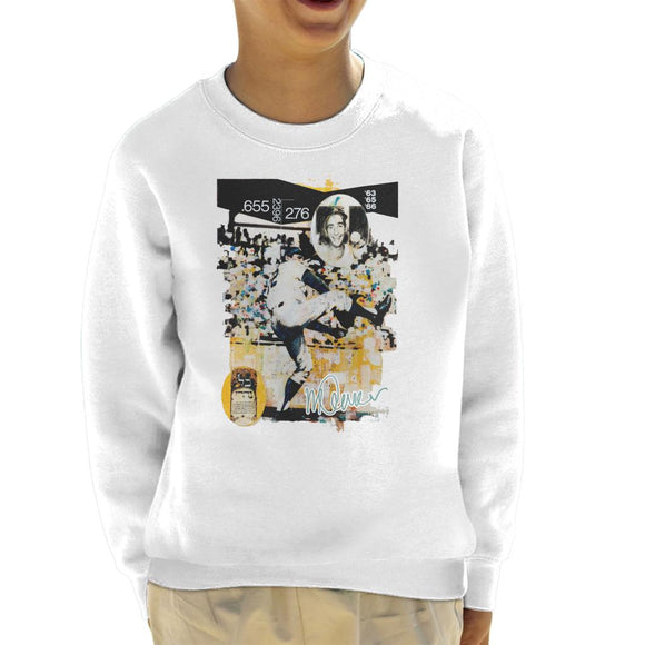Sidney Maurer Original Portrait Of Sandy Koufax Kid's Sweatshirt