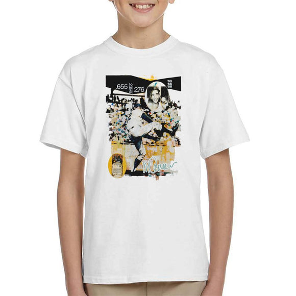 Sidney Maurer Original Portrait Of Sandy Koufax Kid's T-Shirt