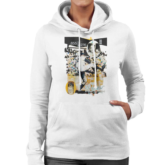 Sidney Maurer Original Portrait Of Sandy Koufax Women's Hooded Sweatshirt