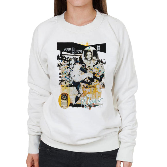 Sidney Maurer Original Portrait Of Sandy Koufax Women's Sweatshirt