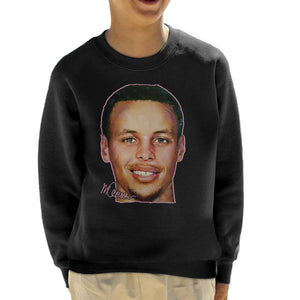 Sidney Maurer Original Portrait Of Stephen Curry Kid's Sweatshirt