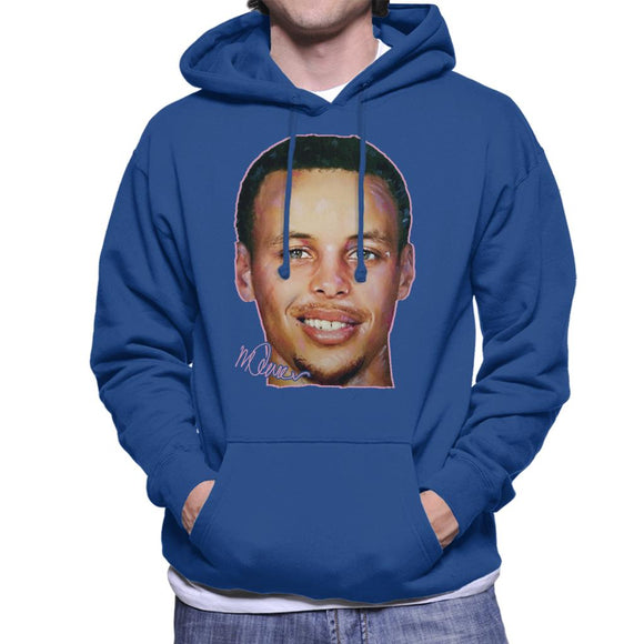 Sidney Maurer Original Portrait Of Stephen Curry Men's Hooded Sweatshirt