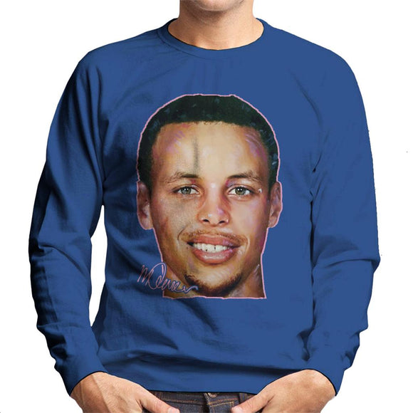 Sidney Maurer Original Portrait Of Stephen Curry Men's Sweatshirt