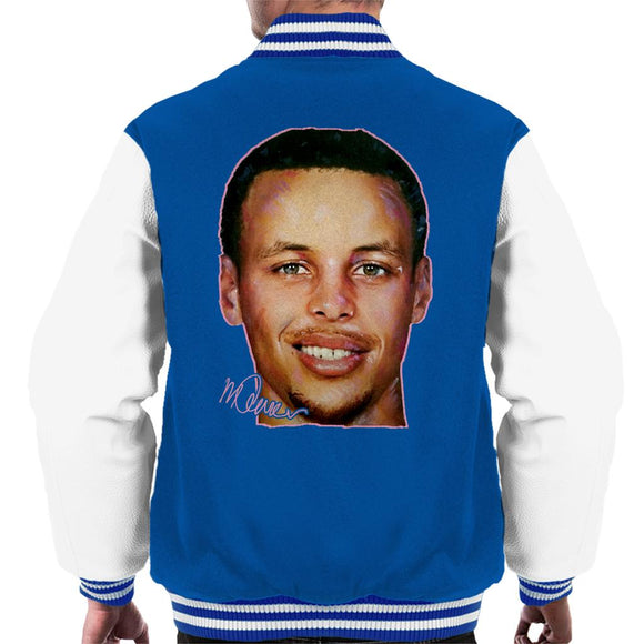Sidney Maurer Original Portrait Of Stephen Curry Men's Varsity Jacket
