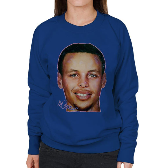 Sidney Maurer Original Portrait Of Stephen Curry Women's Sweatshirt