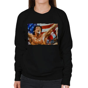 Sidney Maurer Original Portrait Of Sylvester Stallone As Rocky Women's Sweatshirt