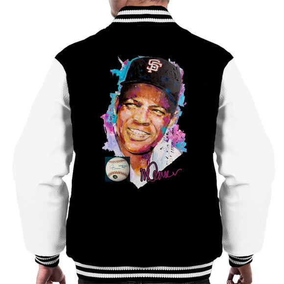 Sidney Maurer Original Portrait Of Willie Mays Men's Varsity Jacket