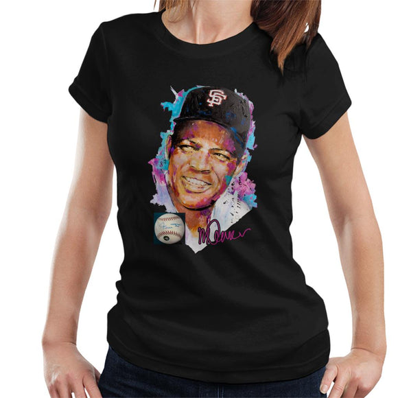 Sidney Maurer Original Portrait Of Willie Mays Women's T-Shirt