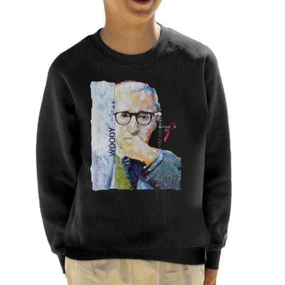Sidney Maurer Original Portrait Of Director Woody Allen Kid's Sweatshirt