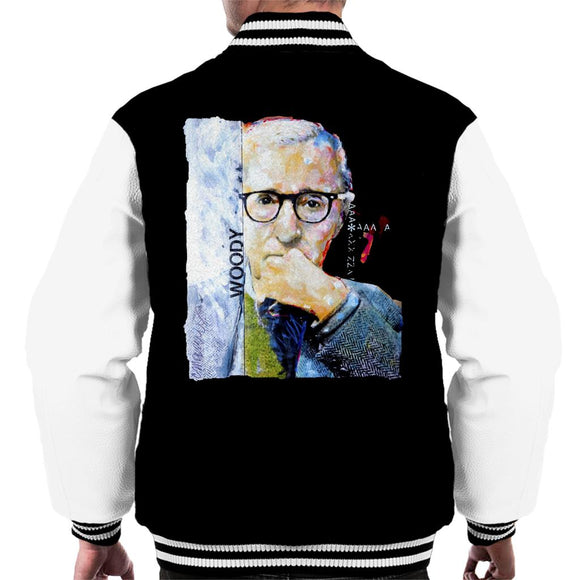 Sidney Maurer Original Portrait Of Director Woody Allen Men's Varsity Jacket