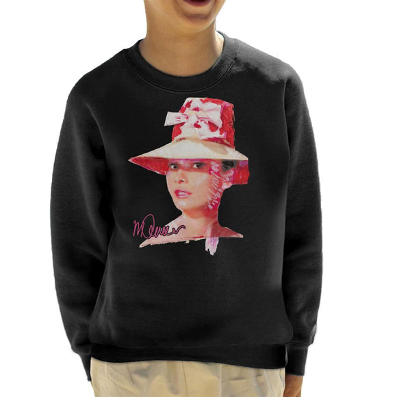Sidney Maurer Original Portrait Of Movie Star Audrey Hepburn Kid's Sweatshirt
