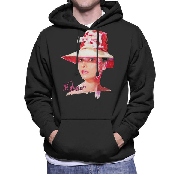 Sidney Maurer Original Portrait Of Movie Star Audrey Hepburn Men's Hooded Sweatshirt