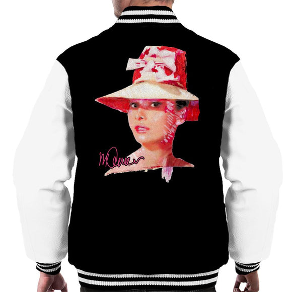 Sidney Maurer Original Portrait Of Movie Star Audrey Hepburn Men's Varsity Jacket